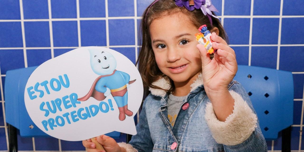 tajaí ultrapassa 90% de cobertura vacinal contra poliomielite e o sarampo neste sábado (25)