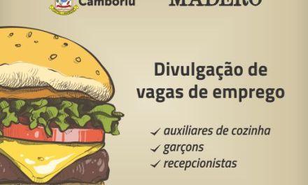 Assistência Social de Camboriú e Madero divulgam novas vagas de emprego