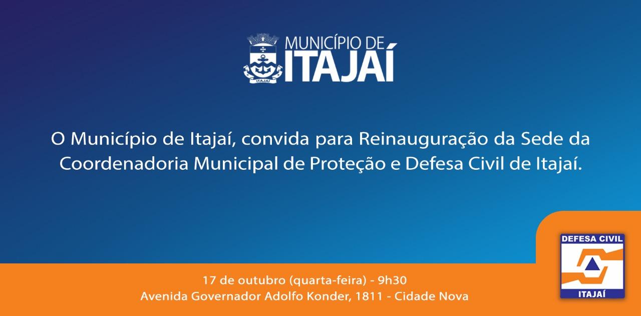 Defesa Civil reinaugura sede nesta quarta-feira (17)
