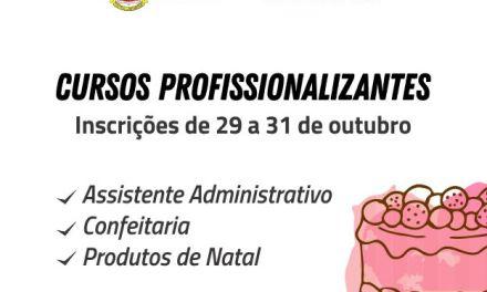 Inscrições abertas para cursos profissionalizantes em Camboriú