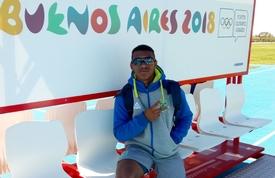 Atleta de Balneário Camboriú já está em Buenos Aires para os Jogos Olímpicos da Juventude