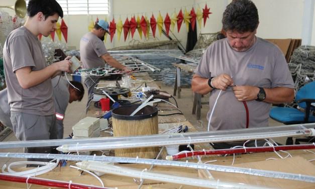 Município de Itajaí prepara iluminação de Natal