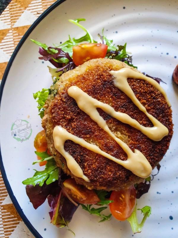 Open toast tuna sandwich