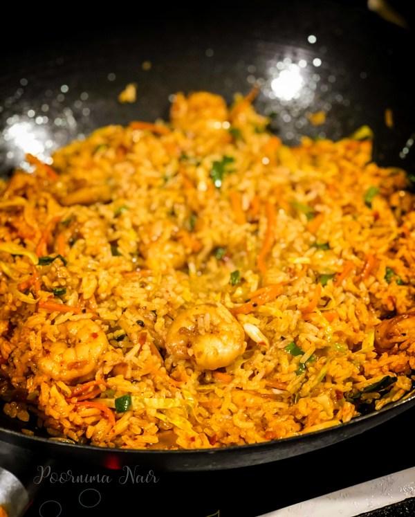 Schezwan Prawn Fried Rice