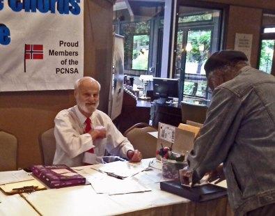 At the Registration Desk