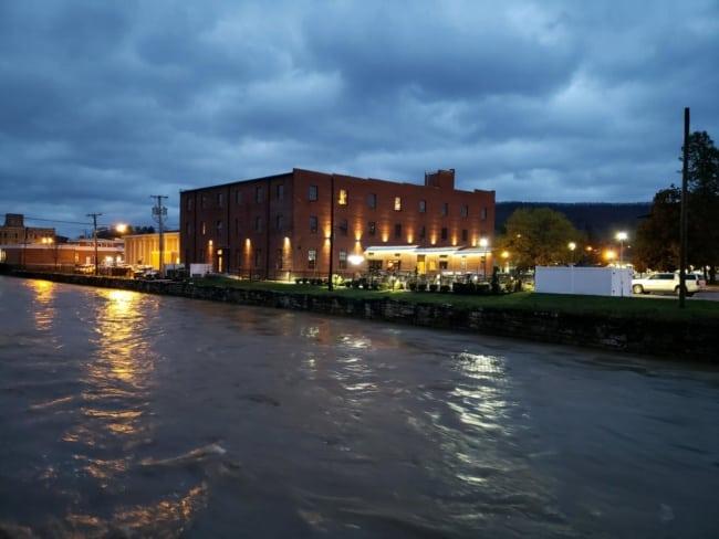 Rains cause Peak Creek to rise