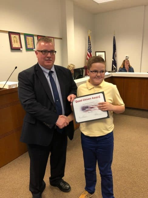 Jones presented with Citizenship Award