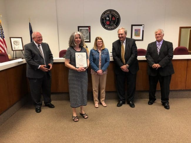 Payne is Pulaski County Schools' Teacher of the Month