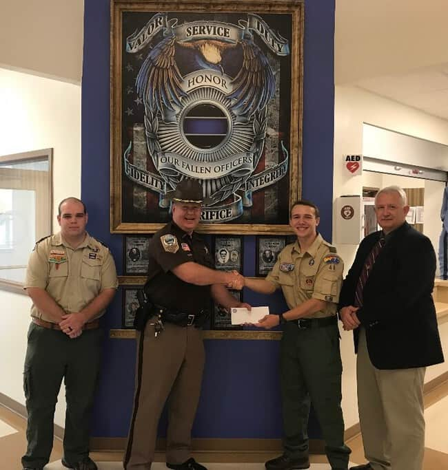 Eagle Scout project yields Memorial Wall for fallen law officers in NRV