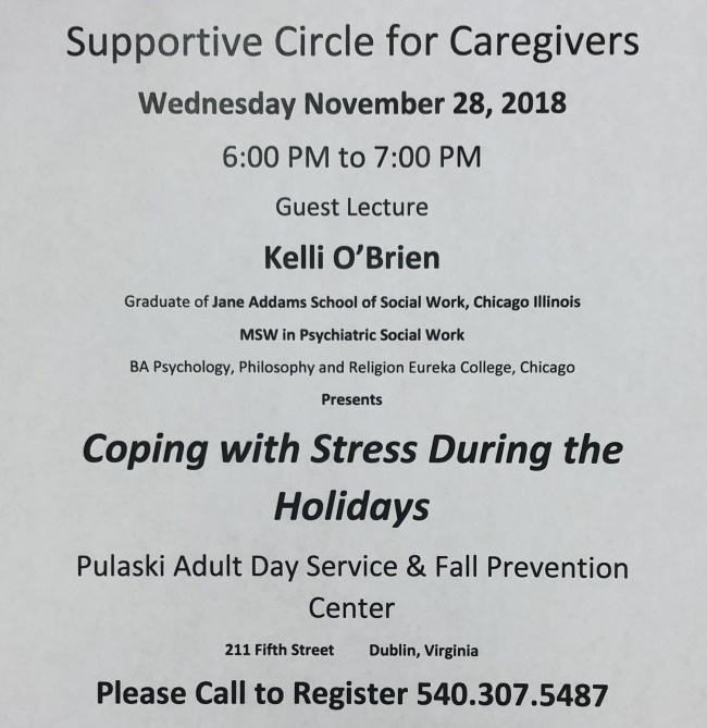 Supportive Circle for Caregivers set for Wednesday