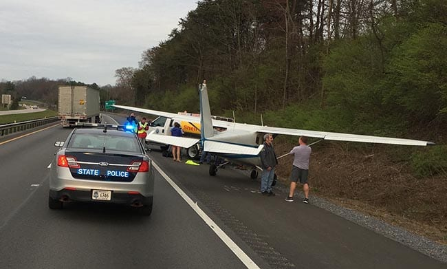 State Police: Plane makes emergency landing along I-81 near Abingdon