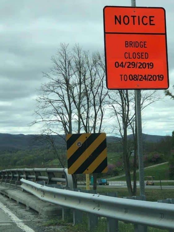 Bridge over I-81 at Exit 92 closed for bridge jacking