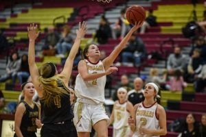 Big second quarter fires Cougar girls to big victory