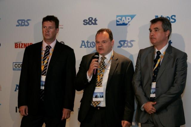 Simon Kaluze, Vojisalv Genic i Dragan Stokic_SAP Forum Beograd