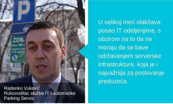 Radenko Vuković Rukovodilac službeIT i automatike Parking Servis