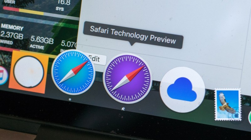 Safari Technology Preview u OS X dock-u