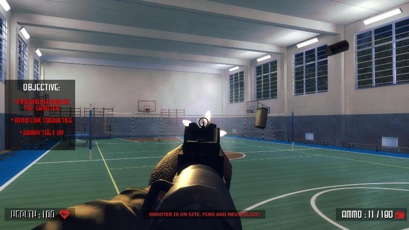 Zabranjena igra sa pucanjem u školi Active Shooter pucačina učenici policajci civili