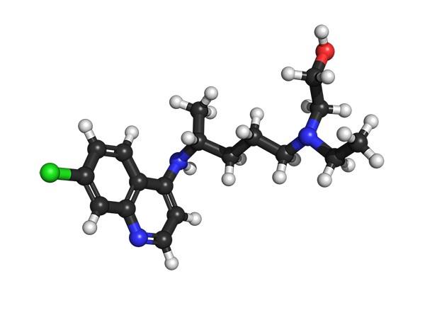 Hydroxychloroquine molekul