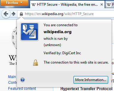 Firefox security warning