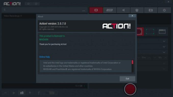 Mirillis Action! 3.1.4 Crack + License Key Full Free