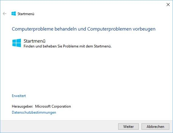 Windows 10 Startmenü Tool