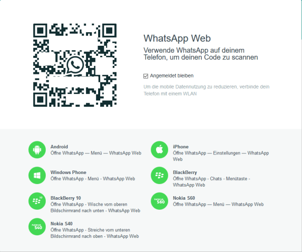 WhatsApp Web einrichten unter Windows 10