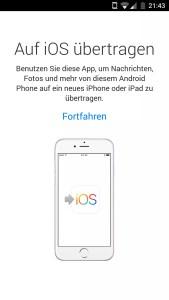 Von Android zu Apple wechseln mit der Move to iOS App