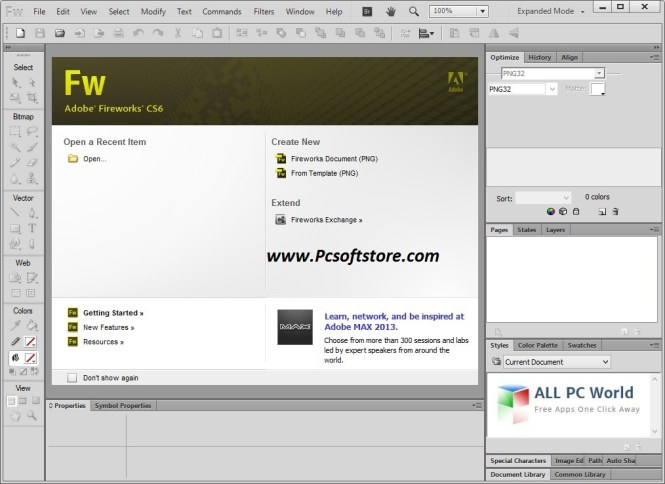 Adobe Fireworks CS6 With Crack Full Version Free Download