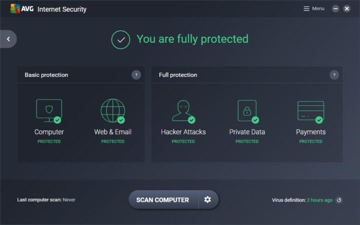 AVG Internet Security Unlimited 18.5 License Key Full Version