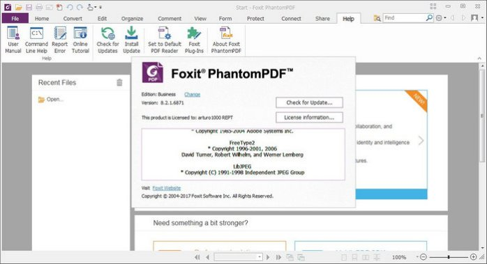 Foxit PhantomPDF 9 Registartion Key incl License Key Full Version