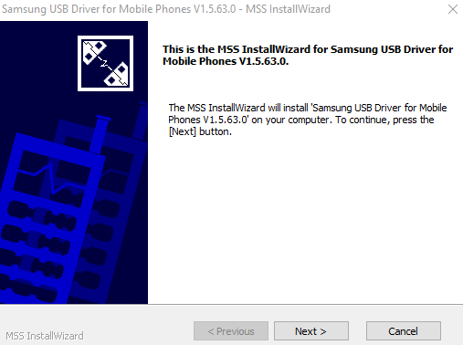 Installation of Samsung USB Drivers For Odin