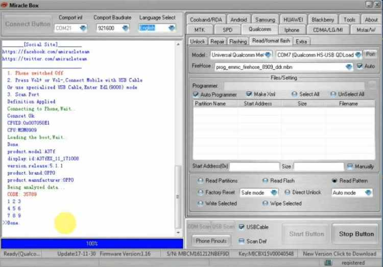 Remove the pattern lock with miracle software image