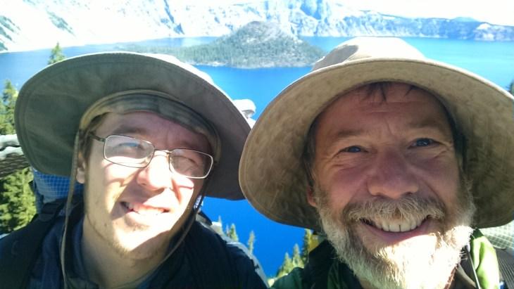 Kevin and Rick at Crater Lake