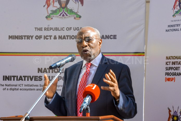 Prime Minister of Uganda; Rt. Hon. Ruhakana Rugunda speaking at the award ceremony of innovators in the second cohort of NIISP at the Ministry of ICT on Wednesday 26th, June 2019.