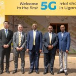In Pictorial (L-R): ZTE Corporation VP Southern African Region; Yi Yahua, MTN Uganda CEO; Wim Vanhelleputte, Prime Minister; Rt. Hon. Ruhakana Rugunda, MTN Uganda Chairman BODs; Charles Mbire, and UCC Executive Director; Eng. Godfrey Mutabazi pose for a group photo after officially launching a pilot 5G demo at the MTN Uganda head offices in Nyonyi Gardens.