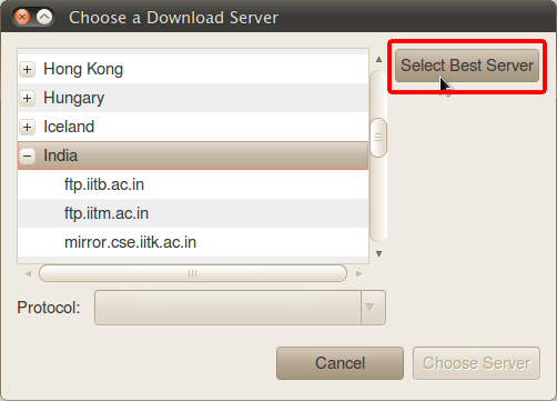 Choose a Download Server