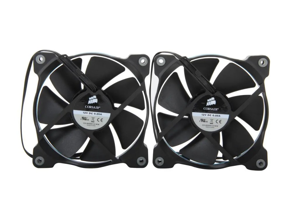 CORSAIR Air Series SP120 Quiet Edition High Static Pressure 120 mm Case Fan Twin Pack (CO-9050006-WW)