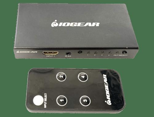 IOGEAR 4K 4-Port HDMI Switch with Remote (GHDSW4K4)