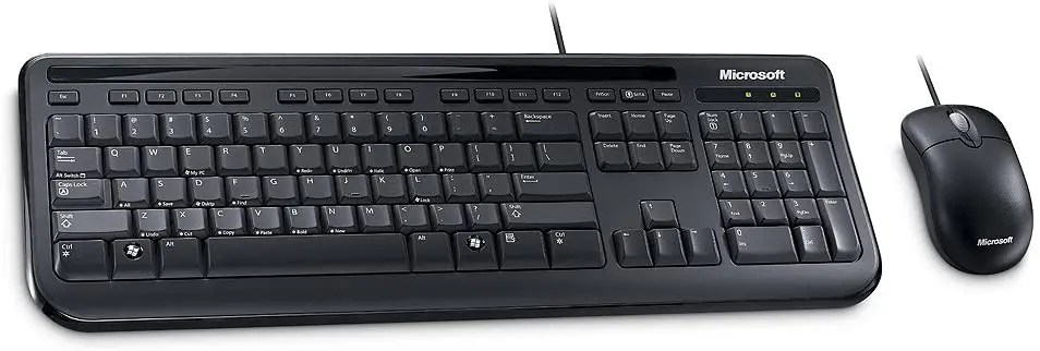 Microsoft Wired Desktop 400 Keyboard & Mouse Combo for Business