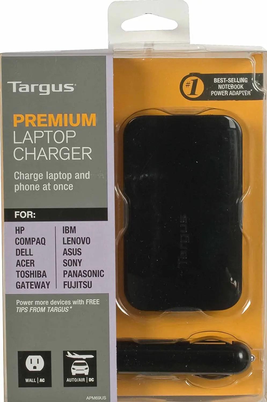 Targus Premium Laptop Charger (AC or DC) (APM69CA)