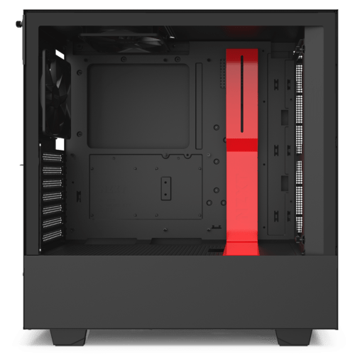 NZXT H510i Compact ATX Mid-Tower Gaming Computer Case (Matte Black/Red) (CA-H510I-BR)