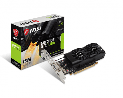 MSI GeForce GTX 1050 Ti 4GT LP Video Card
