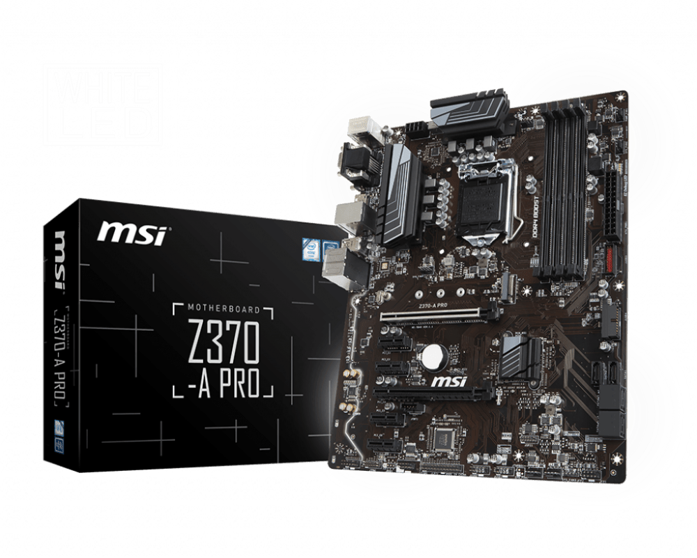 MSI Z370-A PRO LGA 1151 Intel Z370 SATA 6 GB/s ATX Intel Motherboard