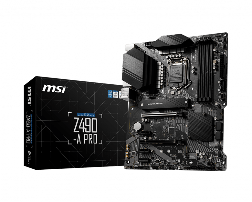 MSI Z490-A PRO LGA 1200 Intel 10th Gen DDR4 M.2 USB 3.2 SATA 6GB/s ATX Intel Motherboard