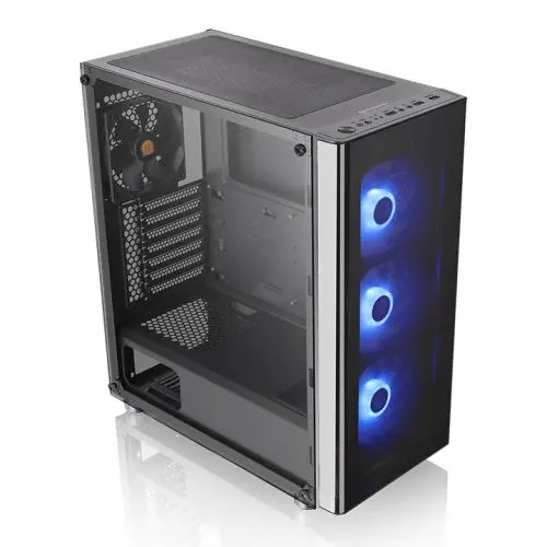 Thermaltake V200 Tempered Glass 3 RGB Edition Mid-Tower Chassis/Computer Case (CA-1K8-00M1WN-01)
