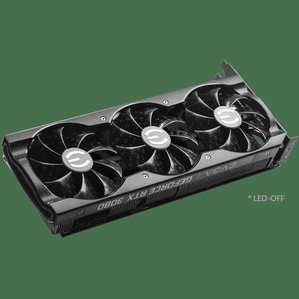 EVGA GeForce RTX 3080 XC3 BLACK GAMING Graphics Card (10G-P5-3881-KR)