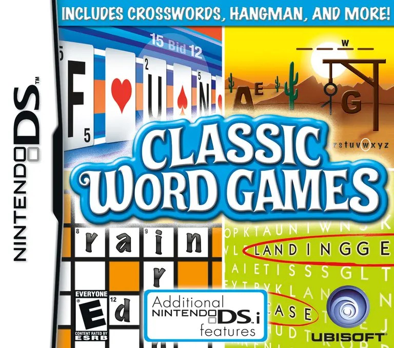 Classic Word Games for Nintendo DS