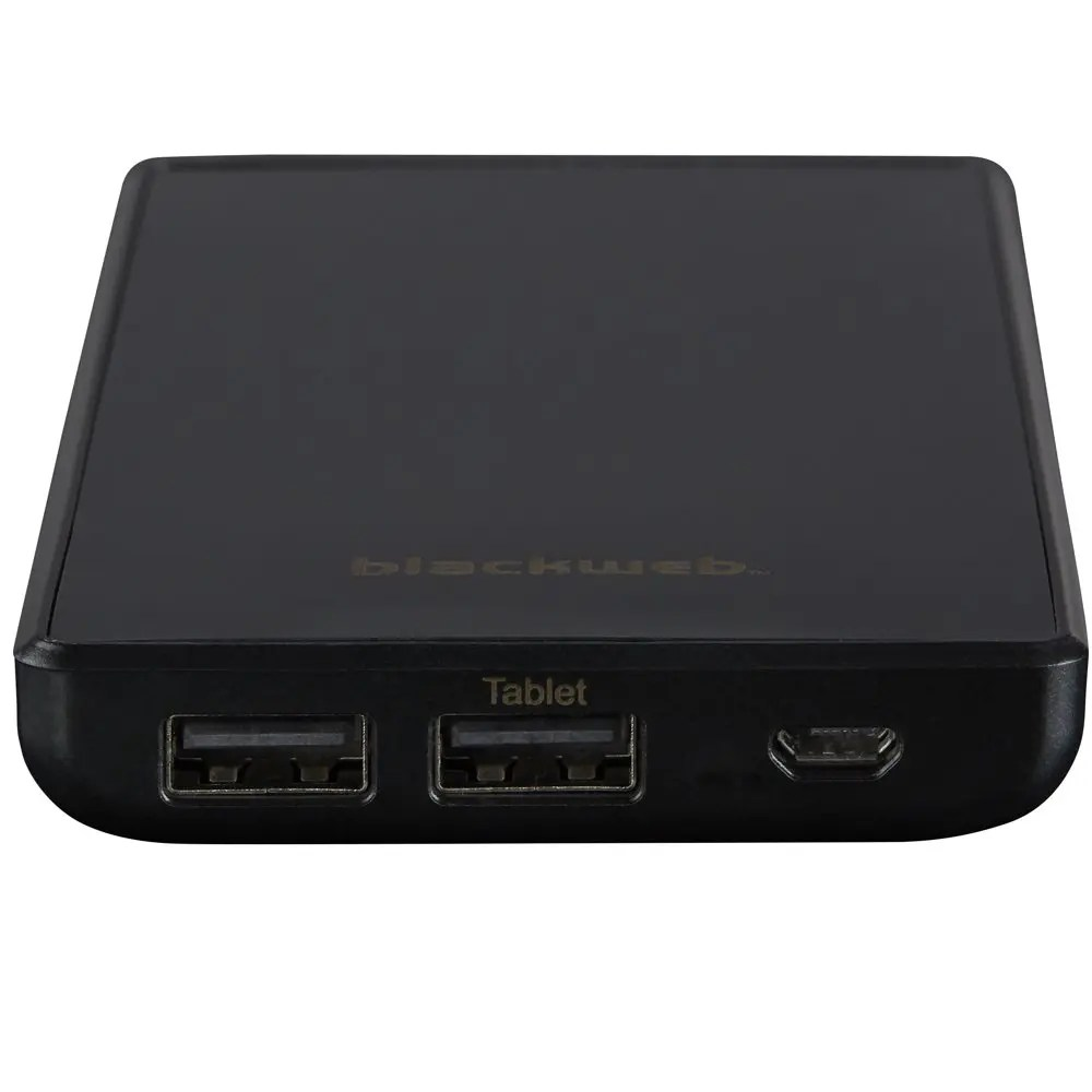 Blackweb 4x Extra Charges 10400 mAh Portable Battery with Power Delivery (Black)