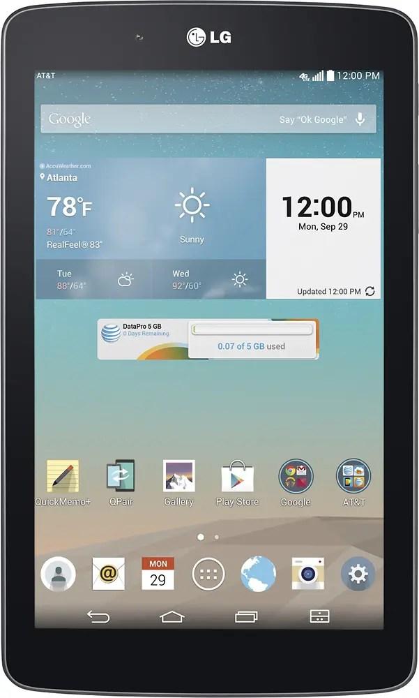 """LG G Pad V410 Tablet (7"""", 16 GB, Wi-Fi + 4G LTE, Unlocked)"""