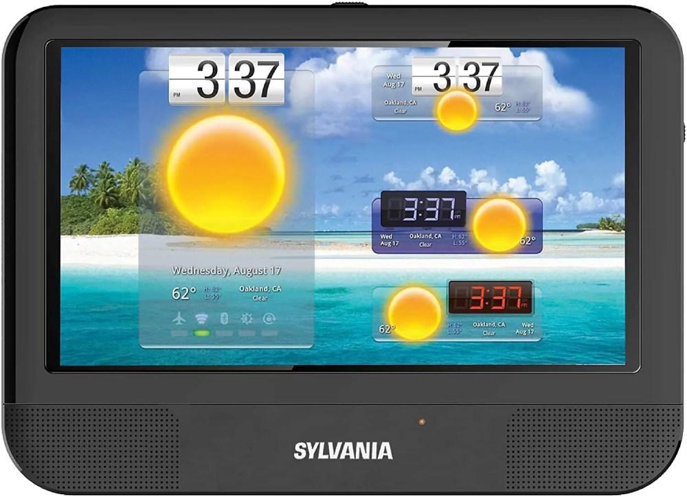 "Sylvania 3-in-1 9"" Touchscreen Portable DVD Player, Tablet & DVD Combo (SLTDVD9220-C)"